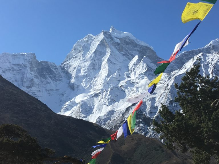 Nepal, Everest, Trek zum Everest Base Camp, Blick auf Mt Kantega
