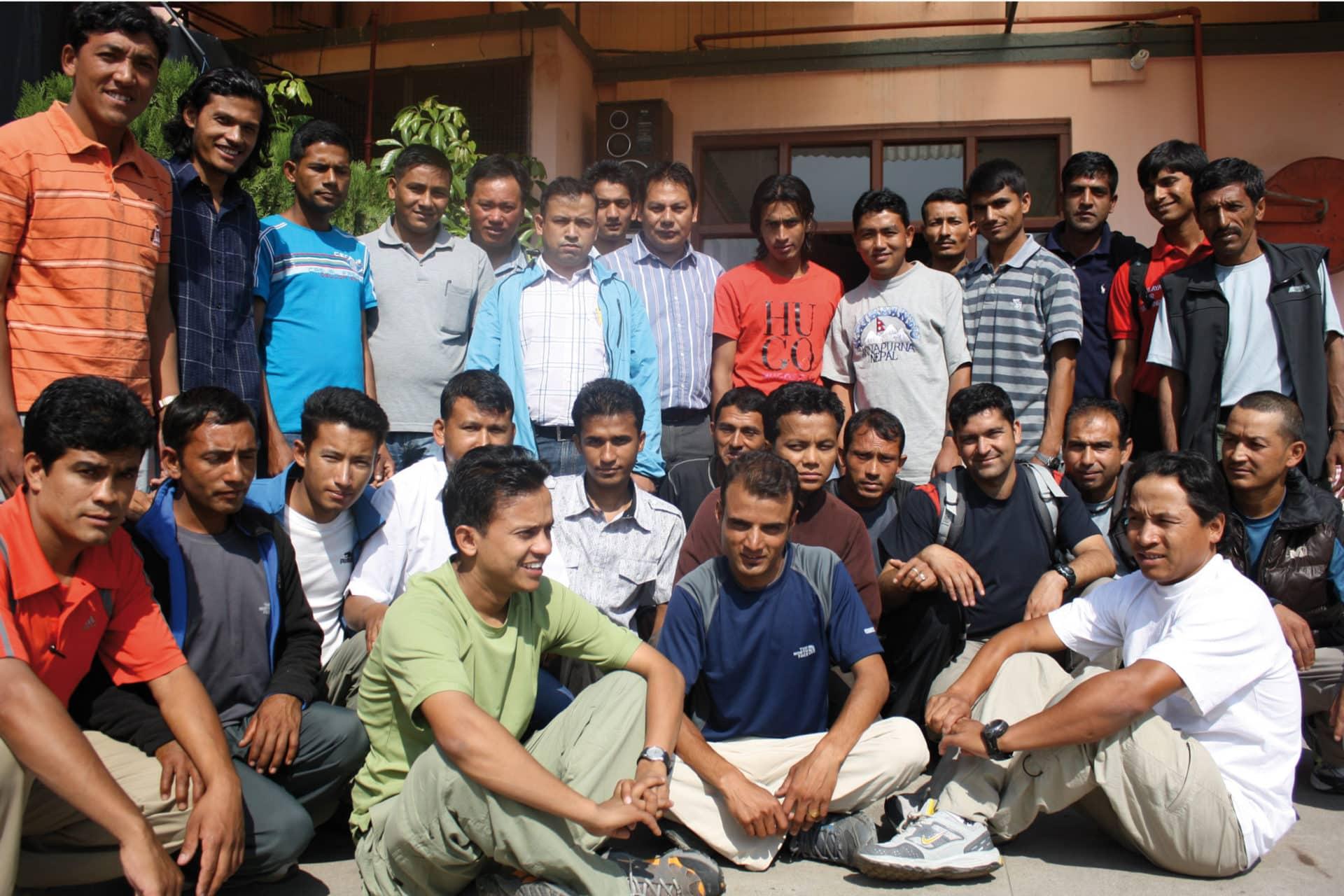 Das HFT-Team vor Ort in Kathmandu, Nepal