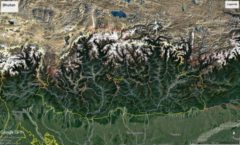 Bhutan Satellitenbild