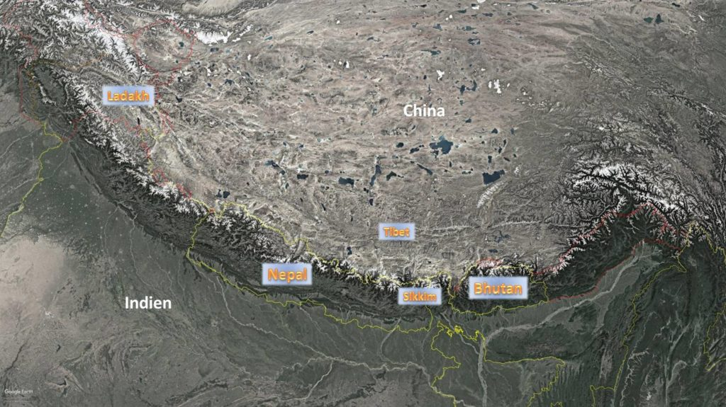 Himalaya Länder Überblick