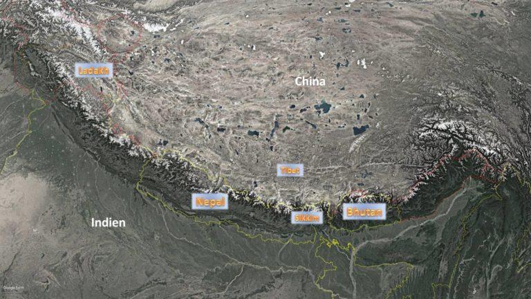 Unsere Reiseziele im Himalaya: Nepal, Bhutan, Ladakh, Tibet