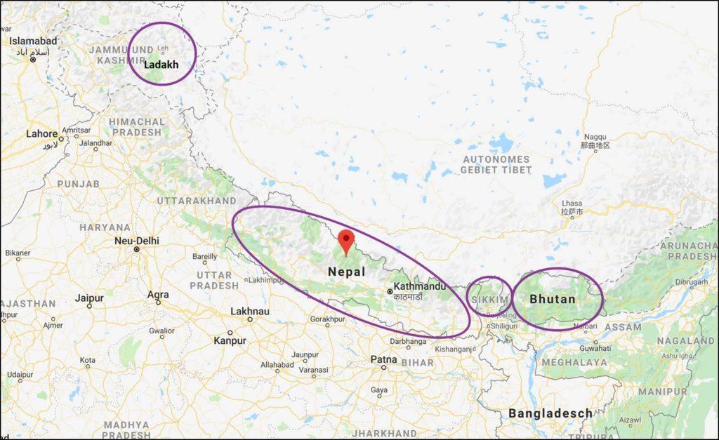 HFT: Unsere Zielgebiete im Himalaya