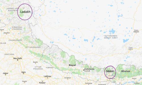 HFT-Region Ladakh und Sikkim