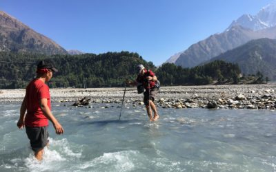 Nepal, Annapurna Runde (T103), Flussdurchquerung