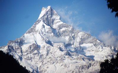 Blick auf den Mount Fishtail (6997 m) vom Annapurna Base Camp aus