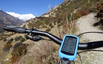 Nepal (T903): Mit dem Mountainbike rund um die Annapurna (2018): Blick aufs Garmin