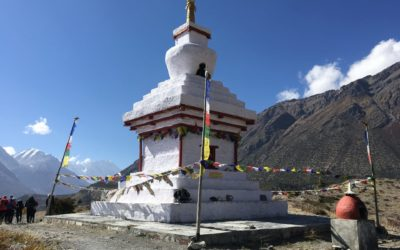 Nepal. Annapurna-Gebiet, Stupa