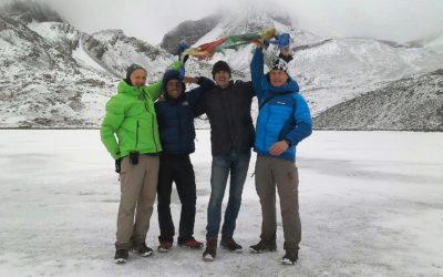 Annapurna Circuit, Gruppe am Ice Lake